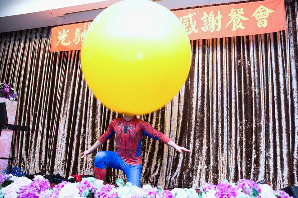 人入大氣球表演即將開始!