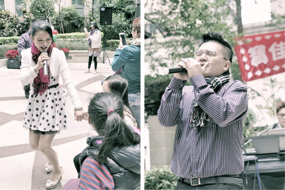 活動主持人帥哥MARK與美女主唱JOANNA,馬上炒嗨現場的氣氛