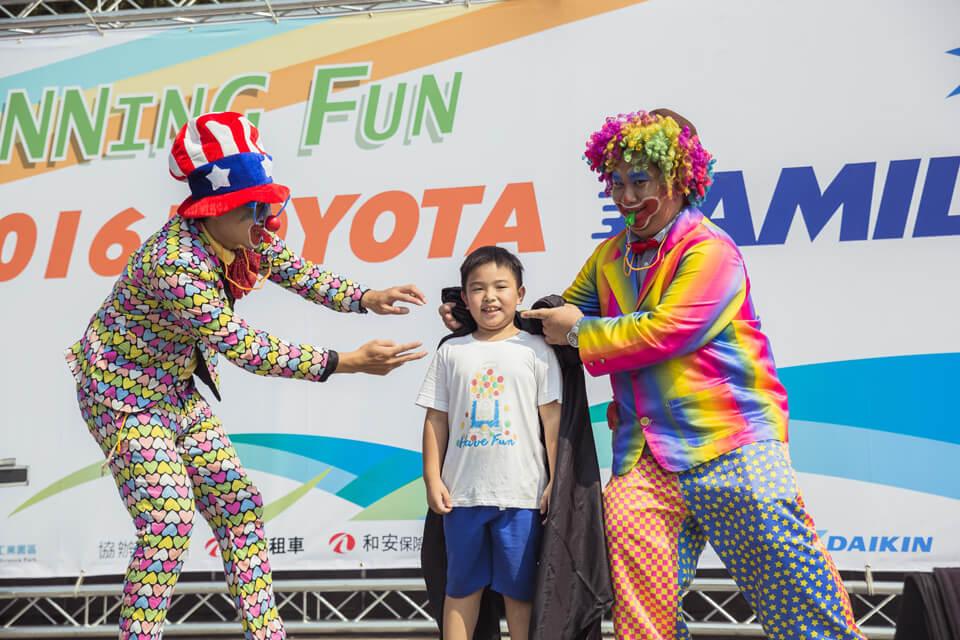 Toyota路跑家庭日魔術表演
