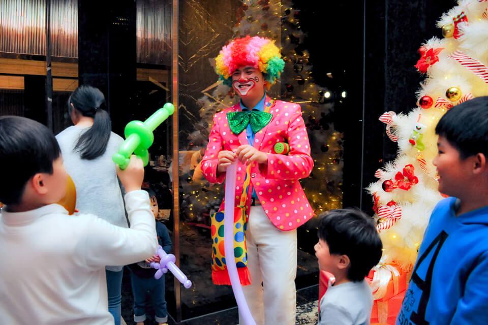 總太天匯社區聖誕晚會氣球小丑