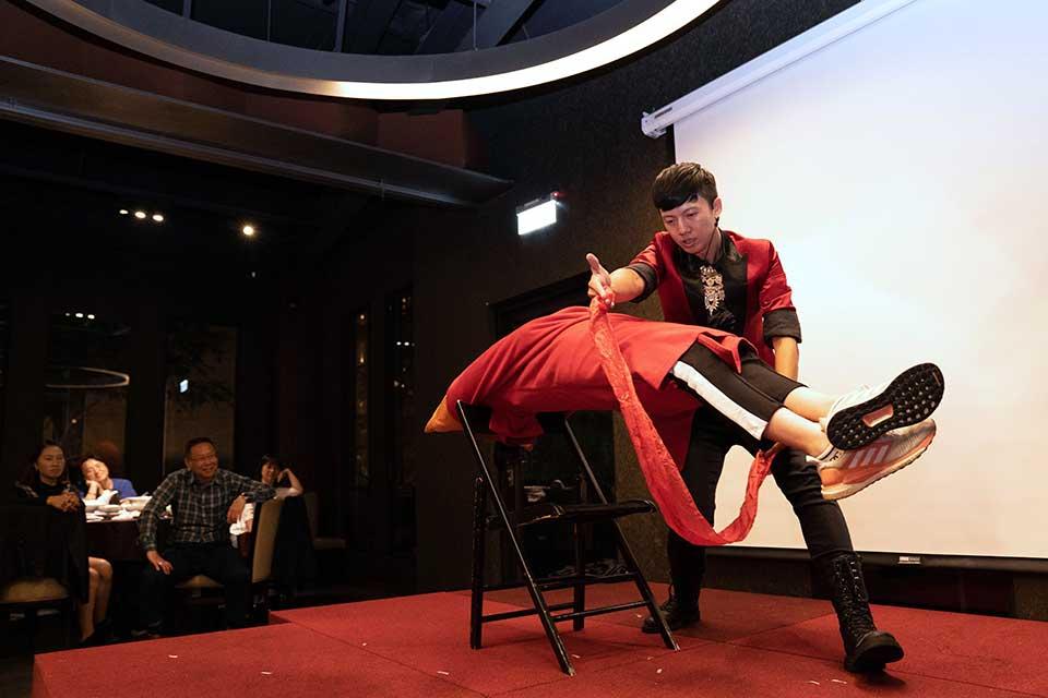 惠文國小直笛隊聚會:舞臺魔術、桌邊魔術
